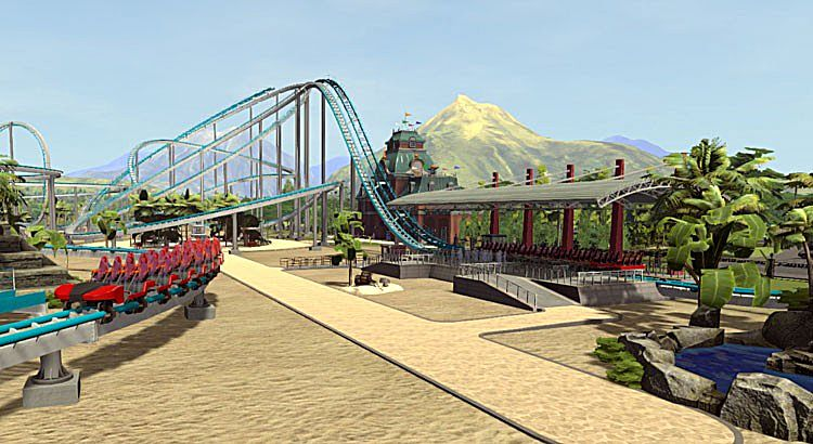 Roller Coaster Tycoon  How To Build Ride Entrance