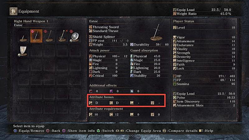 Dark Souls  Magic Build Stats