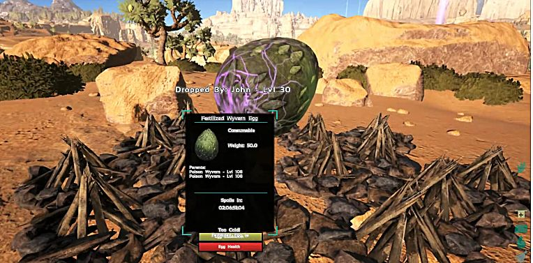 Stealing and Hatching Wyvern Eggs in ARK's Scorched Earth