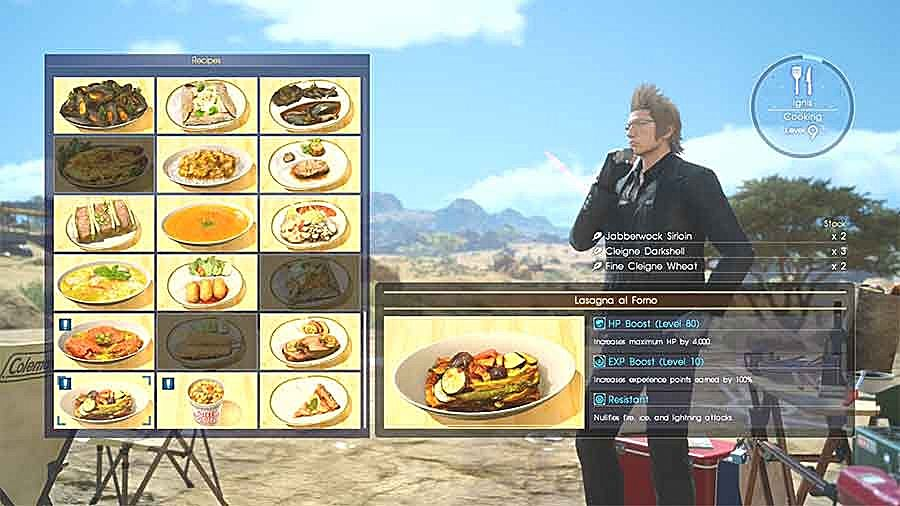 Final Fantasy XV Food Guide: The Best Recipes Ignis Can ...