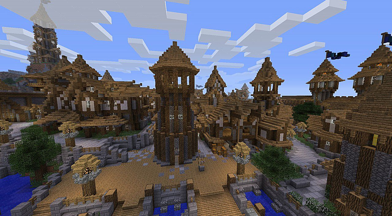 Minecraft Building With Nether Port