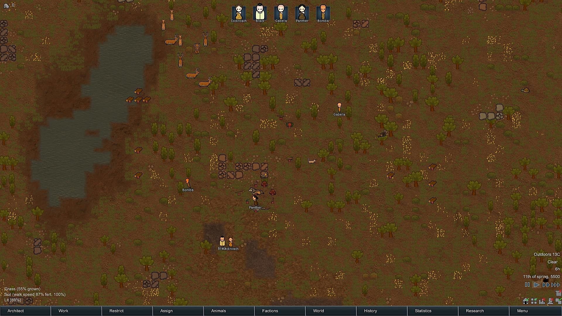 Rimworld preview a gem worthy of a royal crown rimworld the third and final scenario is lost tribe the player must lead a primitive group of five tribe members to rebuild their lives after their previous gumiabroncs Gallery