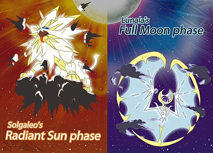 New Forms for Solgaleo and Lunala Revealed in Pokemon Sun & Moon
