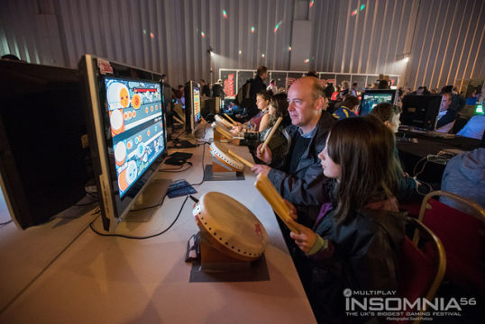 People enjoying last years Retro Zone