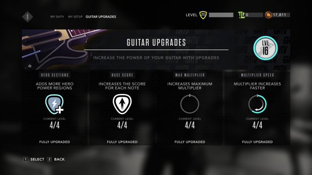 Fully Upgraded Guitar GHTV Guitar Hero Live