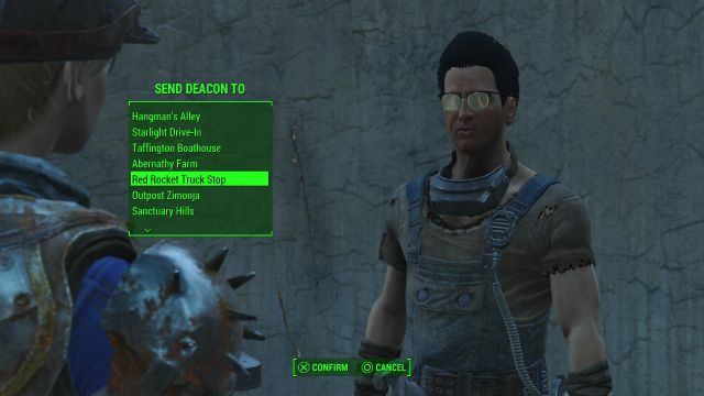 Send Deacon To Red Rocket Truck Stop Companion Settlement