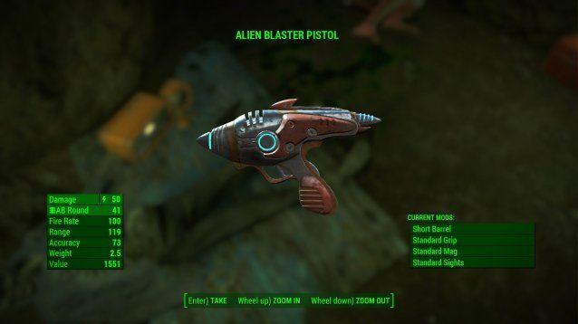 Alien Blaster Pistol Fallout 4