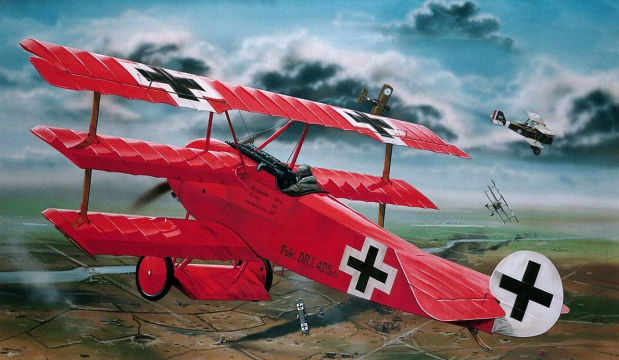The Red Baron's Bi-plane