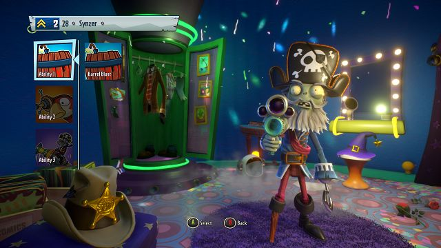 Plants vs Zombies Garden Warfare 2 Captain Deadbeard abilities