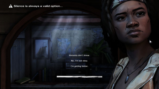 The Walking Dead Michonne Dialog and Choices