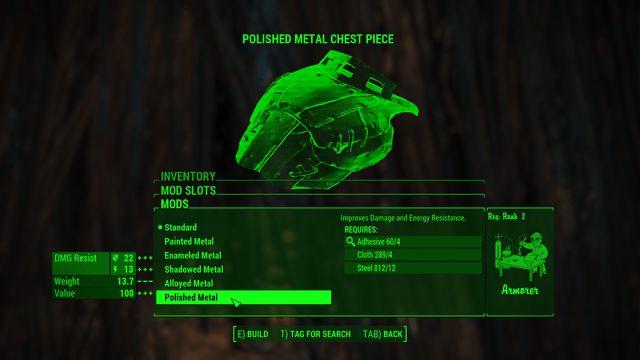 Fallout 4 Mod of the Week: Better Armor Mod Descriptions