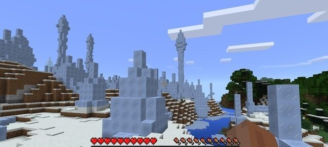 Minecraft taiga forest ice