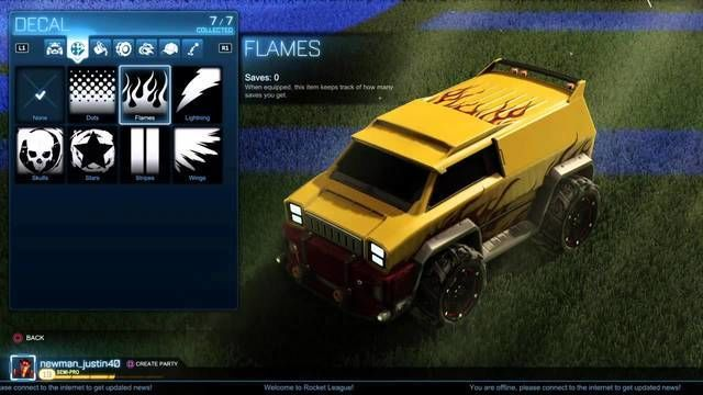 Rocket league also features a whole slew of cosmetics unlocks in the form of decals to spiffy up your rocket car