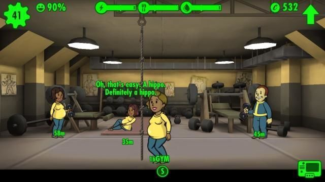fallout shelter tips funny gym workout dweller pregnant