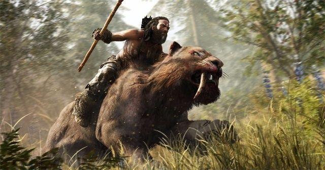 Far Cry Primal riding sabretooth