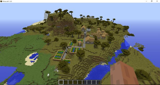 10 Crazy Awesome Minecraft Seeds With Villages 1 8 Minecraft