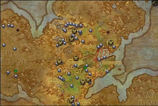 WoD treasure map
