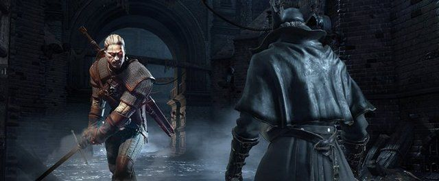 Image result for witcher 3 vs bloodborne