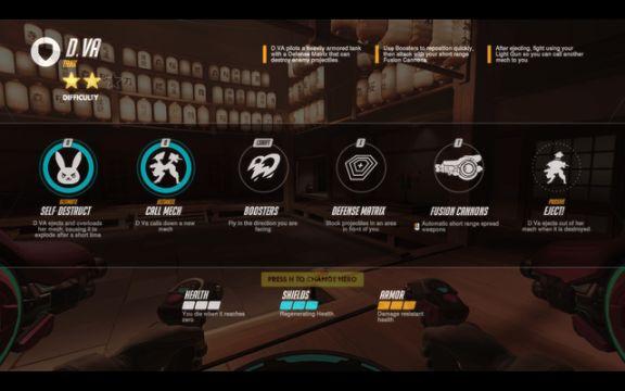 Overwatch D.Va abilities