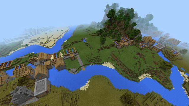 minecraft pe huge village triple seed mamaMOOSE