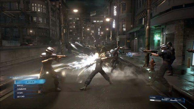 Final Fantasy 7 Remake combat