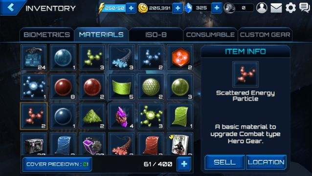 Materials for upgrading gear