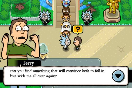 pocket mortys screenshot of jerry