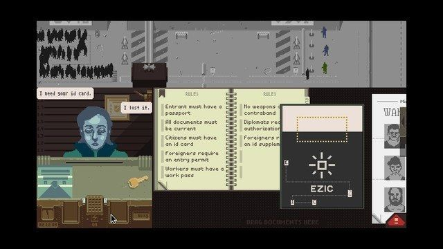 Papers, Please': EZIC Task Guide | Papers, Please