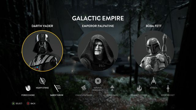 Star Wars Battlefront Villains