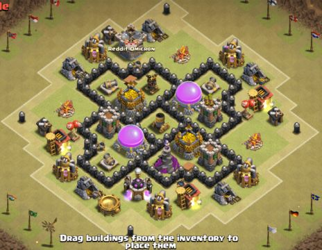 best defense base town hall 5 clash of clans