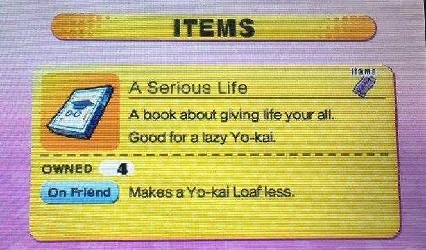 Yo-Kai Watch Attitude book