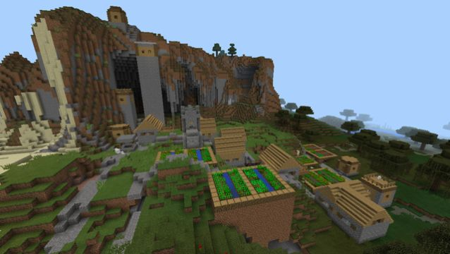 super pig mountain village minecraft pe seed blacksmith
