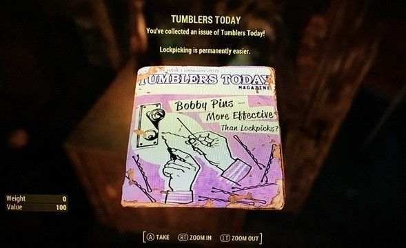 Fallout 4 Tumblers Today perk
