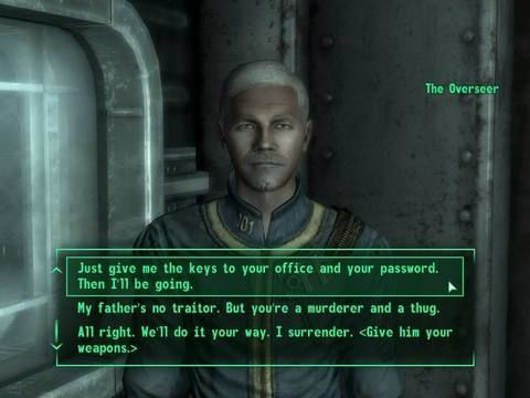 Best dialog option when becoming inquisitor