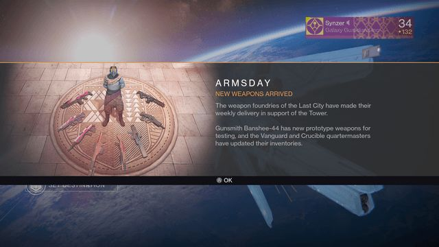 destiny armsday gunsmith