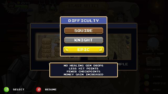 Gryphon Knight Epic difficulty