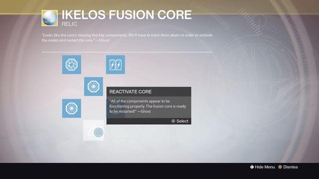 destiny sleeper simulant ikelos fusion core
