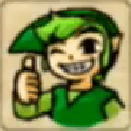 Zelda Tri Force Heroes Placard Emote Thumbs Up