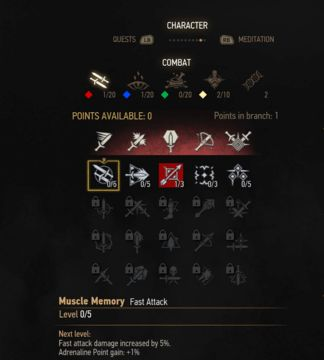 witcher 3 fast attack skill tree