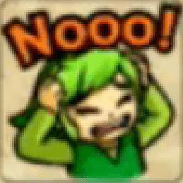Zelda Tri Force Heroes Placard Emote Nooo