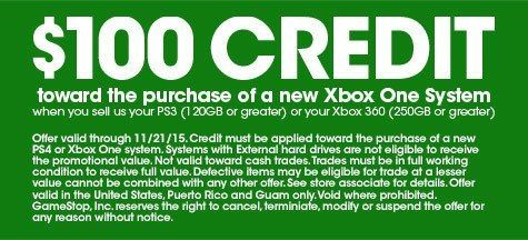 GameStop's Offering an Xbox One For $100