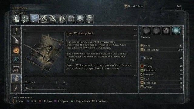 Bloodborne Guide To Caryll Runes Bloodborne