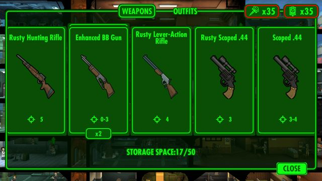 fallout shelter tips equipment gear weapons rusty funny