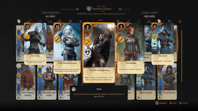 Gwent The Witcher Card Game Builds