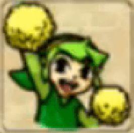 Zelda Tri Force Heroes Placard Emote Pom-Pom