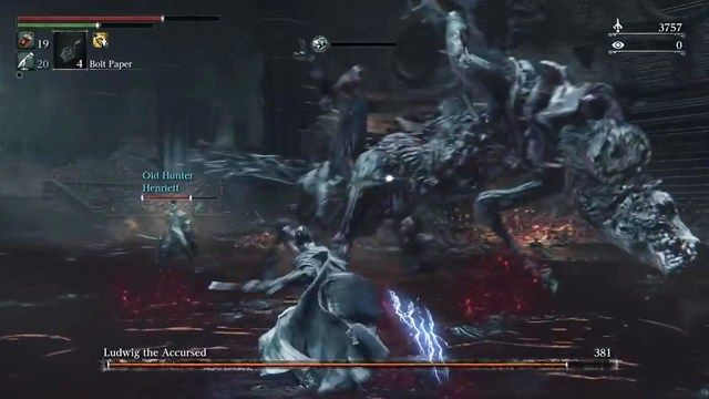 Bloodborne The Old Hunters Ludwig bossfight