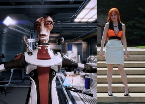 Mordin inspired outfit cosplay mass effect