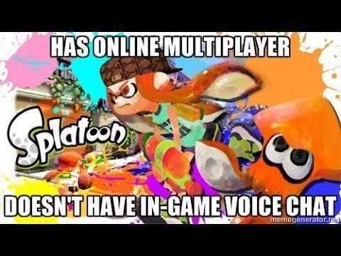 Splatoon voice chat meme
