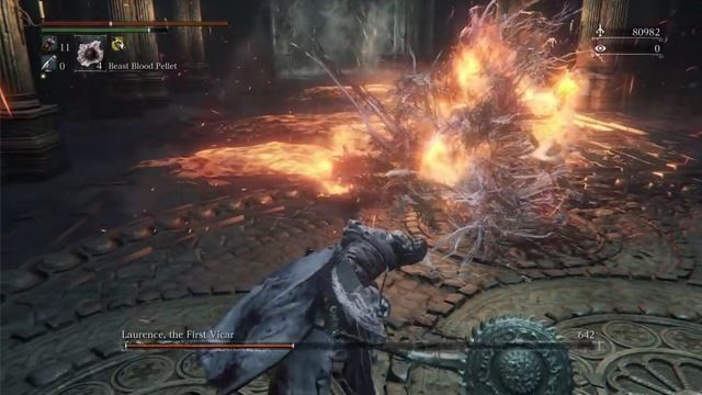 Bloodborne The Old Hunters Laurence bossfight