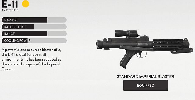 Star Wars Battlefront E-11 Blaster Rifle